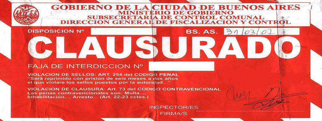 FAJA DE CLAUSURA GCBA