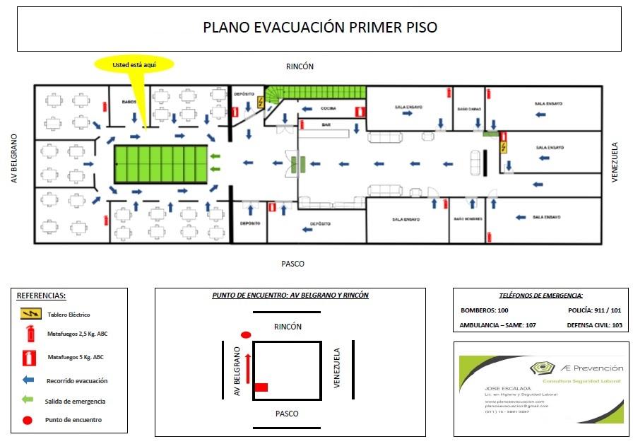 Plano evacuación www.planosevacuacion.com